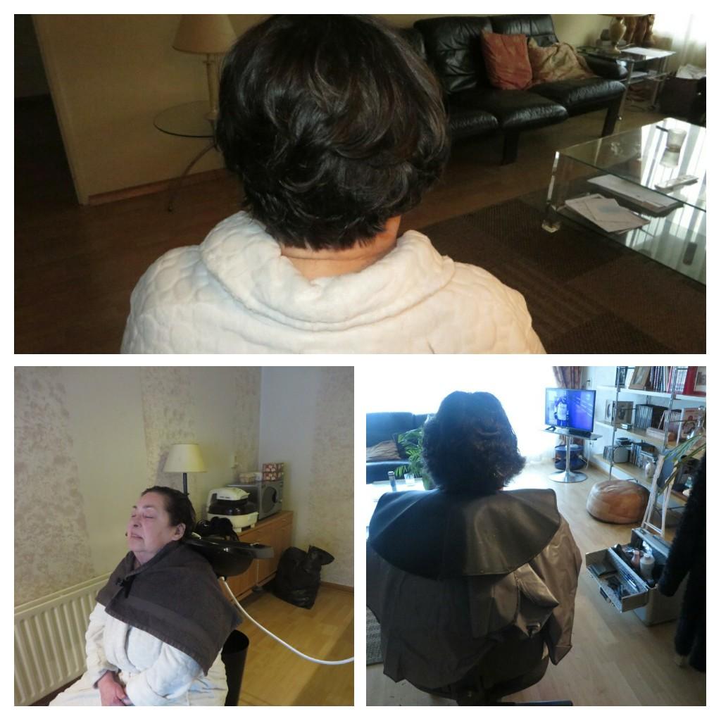 Behandeling oudere thuis GekniptenWel ambulante hairstyling